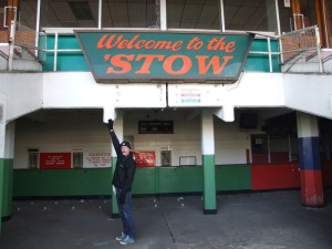 'Welcome to the 'Stow' sign in situ at Walthamstow Dog Track