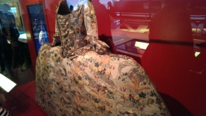 I have to start textile week with a picture of this gorgeous Mantua dress on display at the Museum of London