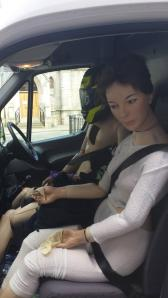 Mannequin's leaving Surgeon's Hall Museum, Edinburgh @surgeonshall Off to their new home, Scot Maritime Museum @ScotMaritime (hoped they don't get stopped by the police)