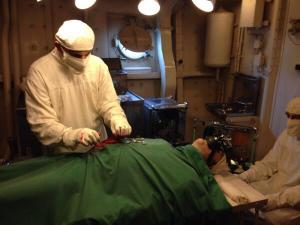 Mannequin surgery from HMS Belfast from @Art_e_facts