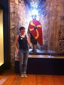 @Gracie_Flower with a handsome chap at Norwich Castle