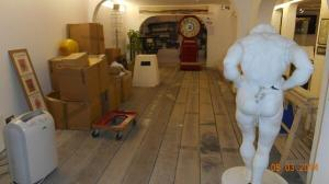 Here is a rather muscular….erm… torso getting ready from the Donald McGill Postcard Museum getting ready for redisplay at the Ryde Heritage Centre