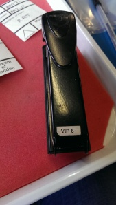 This stapler has been knocking around a while