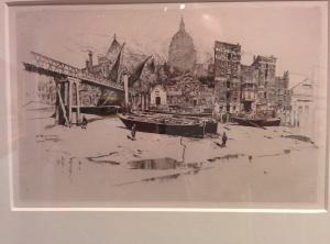 Joseph Pennell, St. Paul's Wharf, 1884