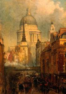 John O'Connor, St Paul's from Ludgate Hill, 1887. (c) The Potteries Museum & Art Gallery; Supplied by The Public Catalogue Foundation. Your Paintings