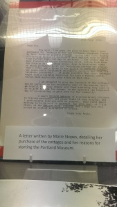 Letter from Portland Museum, Dorset, outlining Marie Stope's intentions for a museum for Portland's children's children