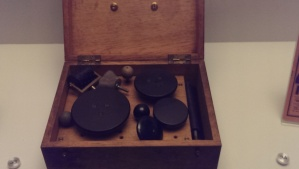 Electric massage set - vibrator in wooden case, 1900-30