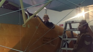 Sitting in an Albatros D.Va (replica)