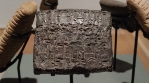 Assyrian clay tablets, part of Hart's Collection at the Blackburn Museum and Gallery