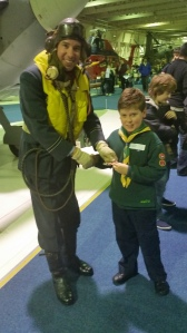 Whitwick Scouts receiving their Air Activities Badge