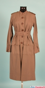 Women's Army Auxiliary Corps dress. Before the formation of the Women's Royal Air Force in 1918, women were employed in units attached to the Royal Flying Corps and Royal Naval Air Service. This is a Pattern 1917 Women's Auxiliary Army Corps dress.