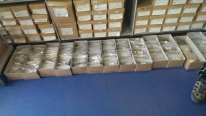 Lots of repacked boxes making space in the archive