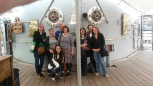 For one day the crew of the HMS Belfast