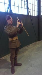 Brendan in full WW1 regalia.