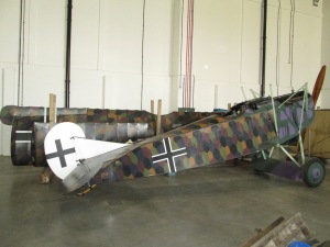 Fokker DVII without wings. Copyright RAF Museum.