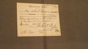 Press Pass to Westminster Abbey and the burial of the unknown warrior 1920