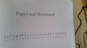 Pepys wrote his diaries in Shelton shorthand