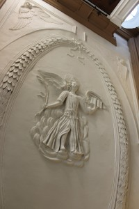 A beautiful angel above us in the vestry
