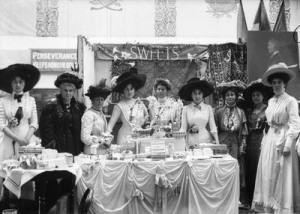 The Sweets stall at the Women's Exhibition, 1909. Copyright Museum of London http://collections.museumoflondon.org.uk/online/object/298038.html