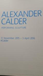 Alexander Calder runs till 3 April 2016