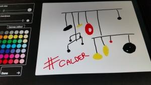 My own attempt at a big of Calder magic at the Bloomberg Drawing Bar