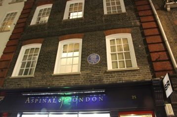 25 Brook Street where Handel lived from 1723