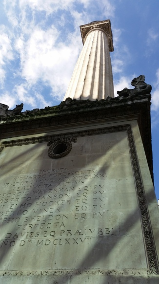 The Monument in Pudding Lane