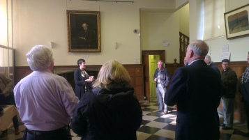 Curator Marie-Louise Kerr giving a talk about the museum and collections.