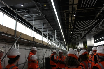 The platform will have floor to ceiling barrier similar to the Jubilee line at the platform edge.