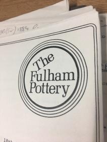 1980s Fulham Pottery logo