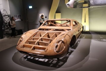 Wooden model for the Ferrari 365 P by Pininfarina.