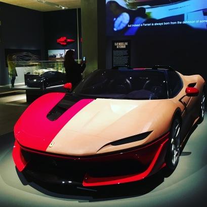 Clay model for the Ferrari J50, 2015