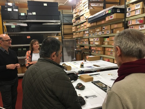 The Access Panel at work in the museum stores