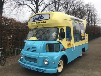 Lovely vintage ice cream van parked outside the Maritime Museum