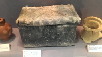 Lead casket on display at Bromley Museum