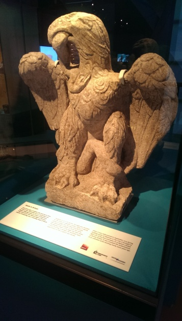 The eagle is made from Cotswolds Limestone around AD100