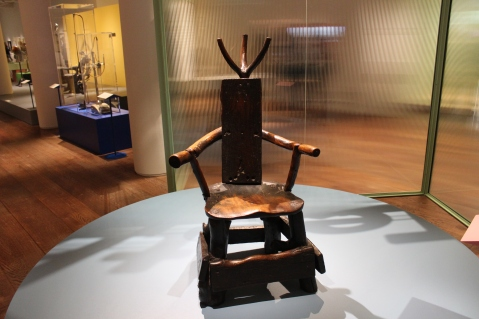 Bet you haven't see this chair at the dentist. 19thC Barber-surgeon chair