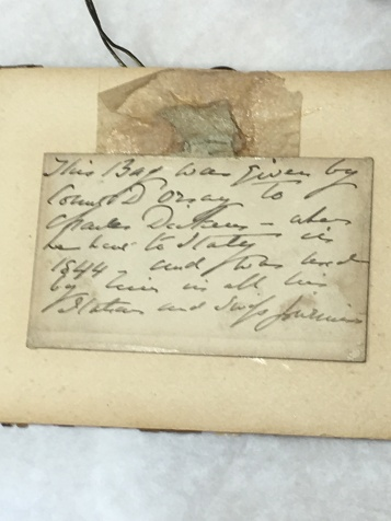 Given to Dickens by French aristocrat Alfred d'Orsay