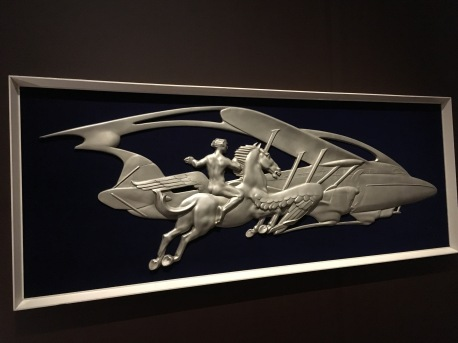 Speed and Progress, relief panel from the travel bureau on the Queen Mary, 1935-6, Maurice Lambert