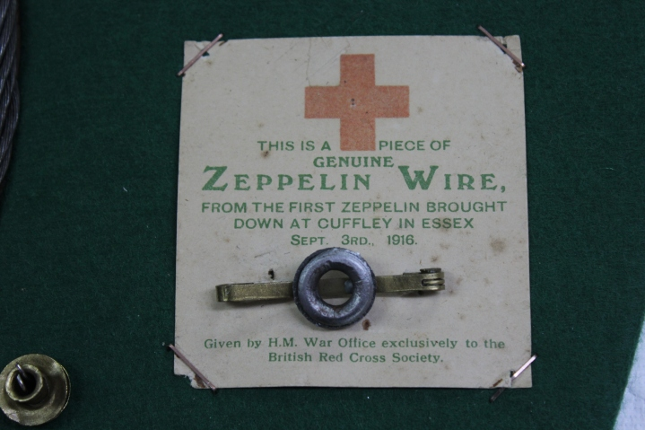 Mementos from the Cuffley Zeppelin