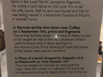 The Cuffley was shot down on 3 Sept 1916