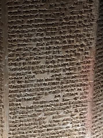 Cuneiform writing.