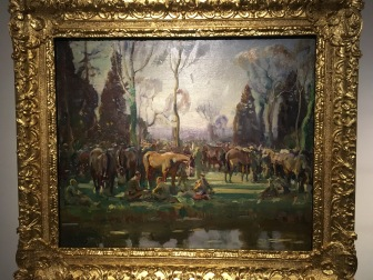 Halt on the March by a Stream Nesle, Alfred Munnings