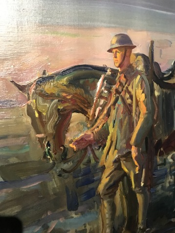 A Canadian Trooper and his Horse (unfinished), Alfred Munnings