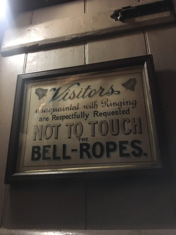 I have no intention of touching the bells ropes.