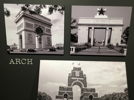 Monumental arches.