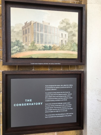 Originally Soane wanted a double height conservatory