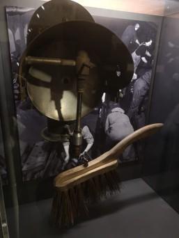 'Fluffer's brush and Tilley paraffin lamp.